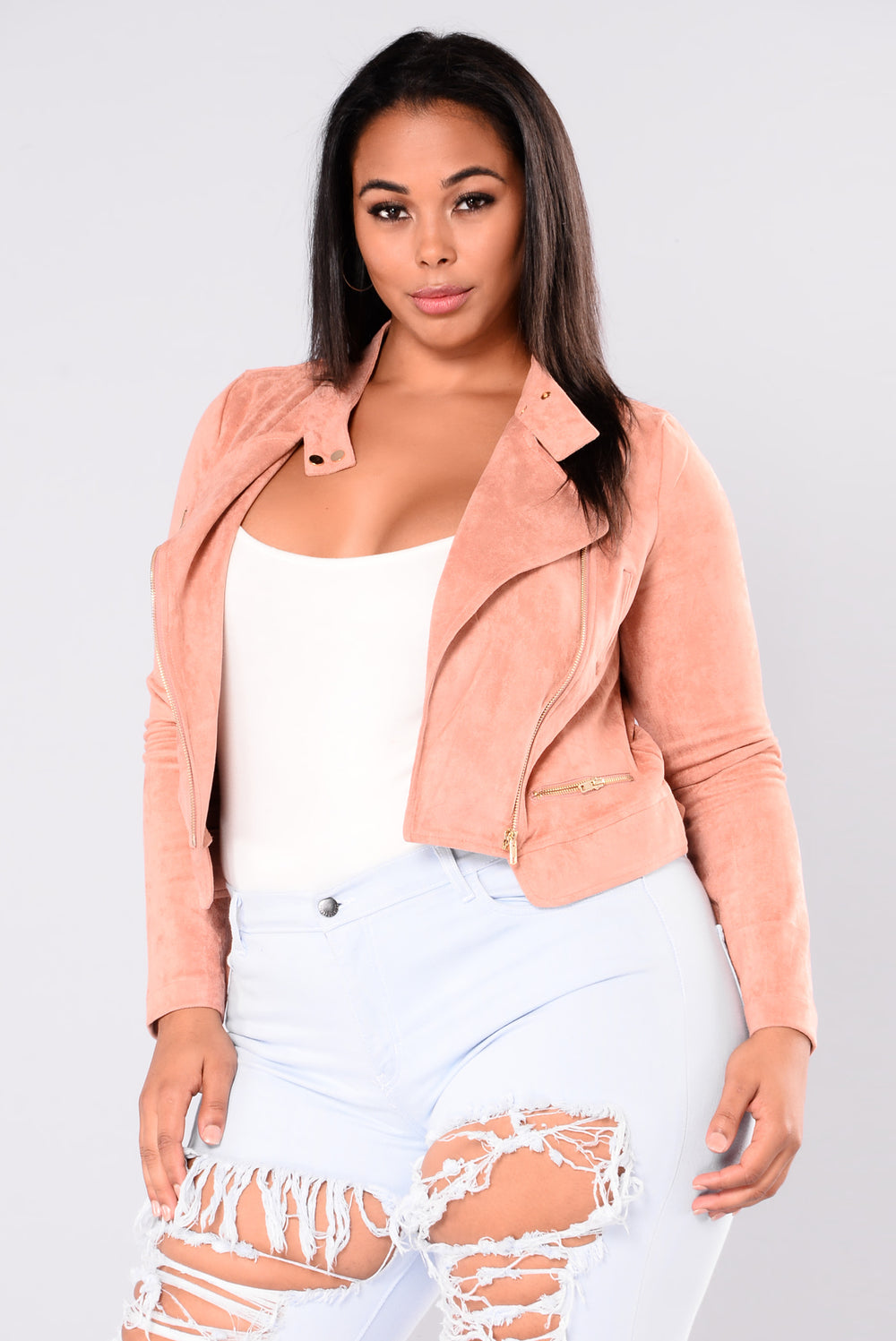 All We Do Suede Jacket - Mauve