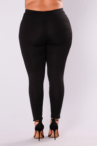 Distance Between Us Ponte Pants - Black
