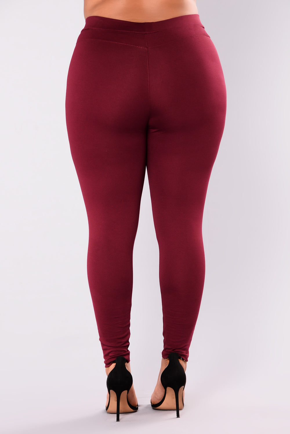 Distance Between Us Ponte Pants - Burgundy