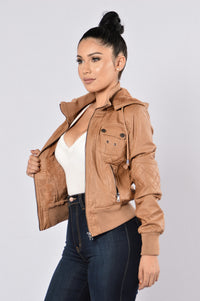 Steal Your Heart Jacket - Camel Angle 1