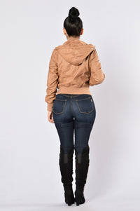 Steal Your Heart Jacket - Camel Angle 9