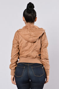 Steal Your Heart Jacket - Camel Angle 4