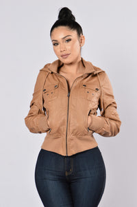 Steal Your Heart Jacket - Camel Angle 5