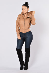 Steal Your Heart Jacket - Camel Angle 8