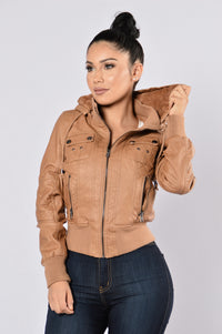 Steal Your Heart Jacket - Camel Angle 3