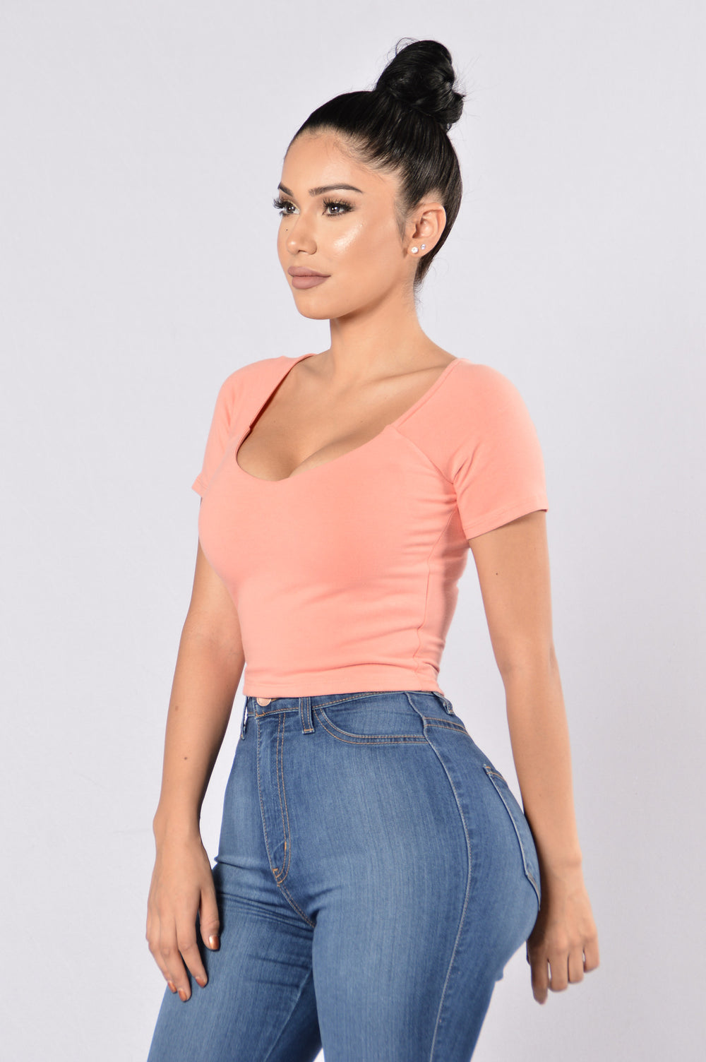 Crop It Like It's Hot Top - Coral