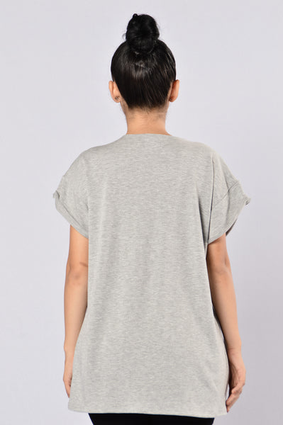 Climb Top - Heather Grey