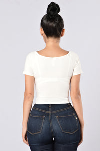 Crop It Like It's Hot Top - White