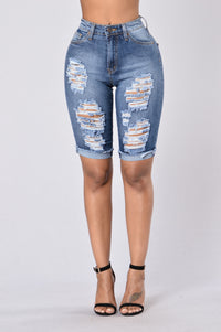 What You Need Bermuda Shorts - Medium Blue
