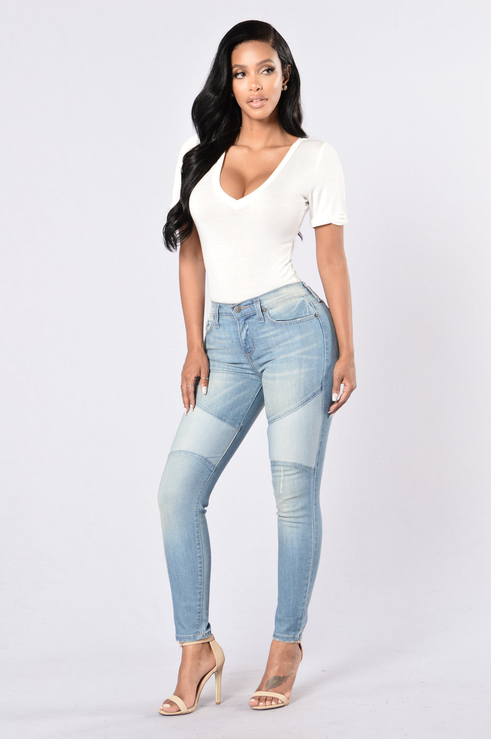 Let's Patch Things Up Jeans - Medium Blue