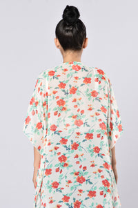 Grow Flowers In Your Heart Kimono - Red