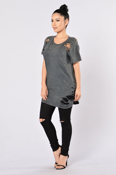 Wreckognize Top - Charcoal
