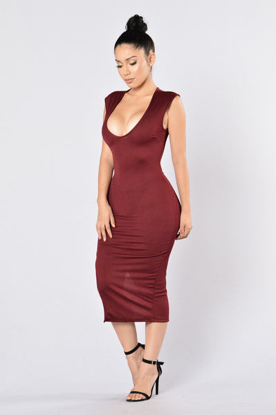 No Mercy Dress - Wine
