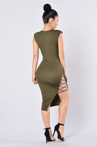 No Mercy Dress - Olive