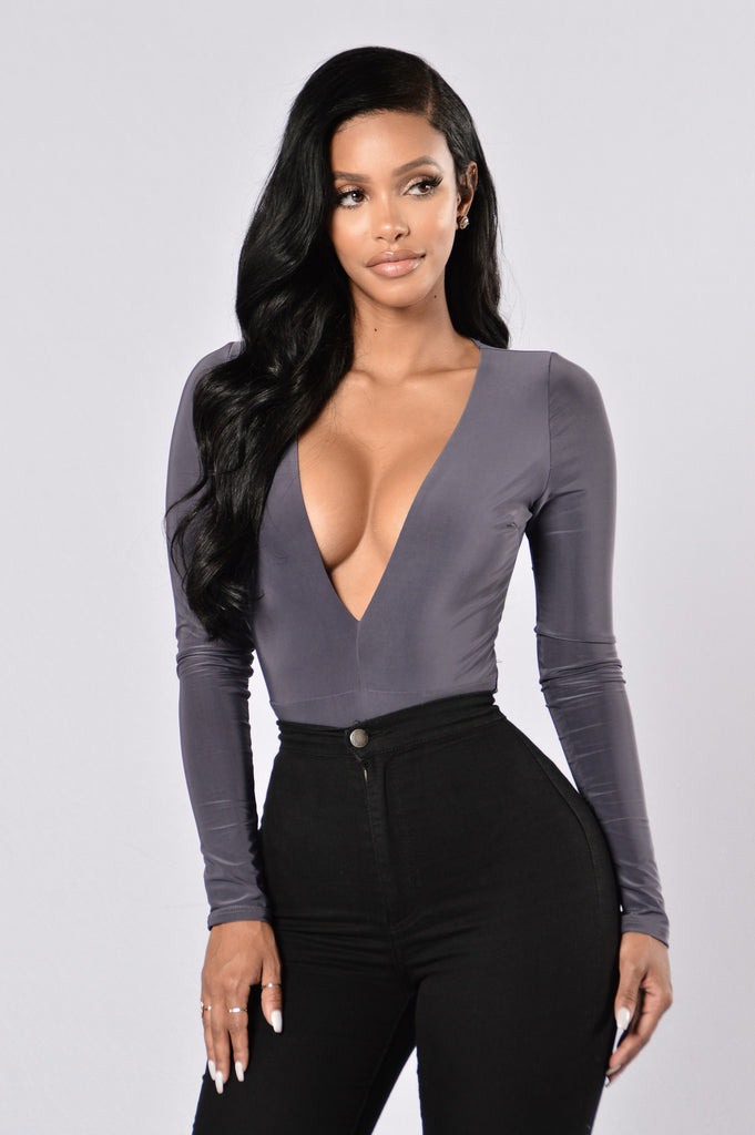 Turn Me On Bodysuit - Charcoal