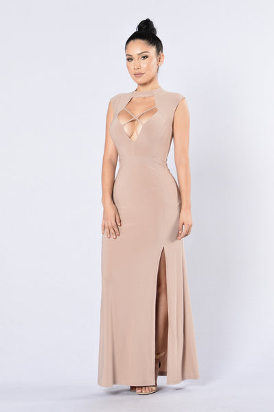 Heir To The Throne Dress - Beige