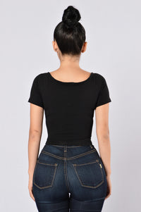 Crop It Like It's Hot Top - Black