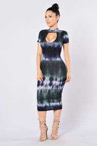 Dye Me Up Dress - Navy/Grey Angle 1