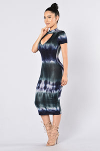 Dye Me Up Dress - Navy/Grey Angle 3