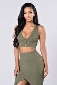Law of Attraction Top - Olive