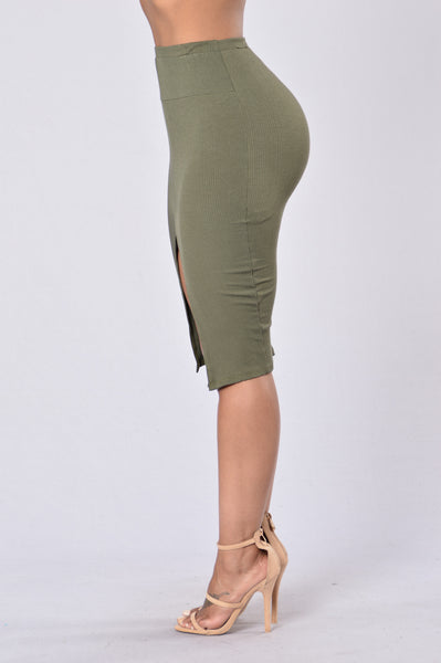 Law of Attraction Skirt - Olive