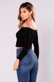 Fabina Off Shoulder Top - Black