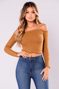Fabina Off Shoulder Top - Mustard