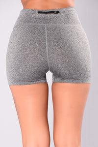 Shawn Seamless Active Shorts - Charcoal Angle 5