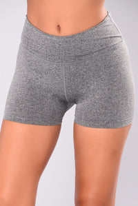 Shawn Seamless Active Shorts - Charcoal Angle 2
