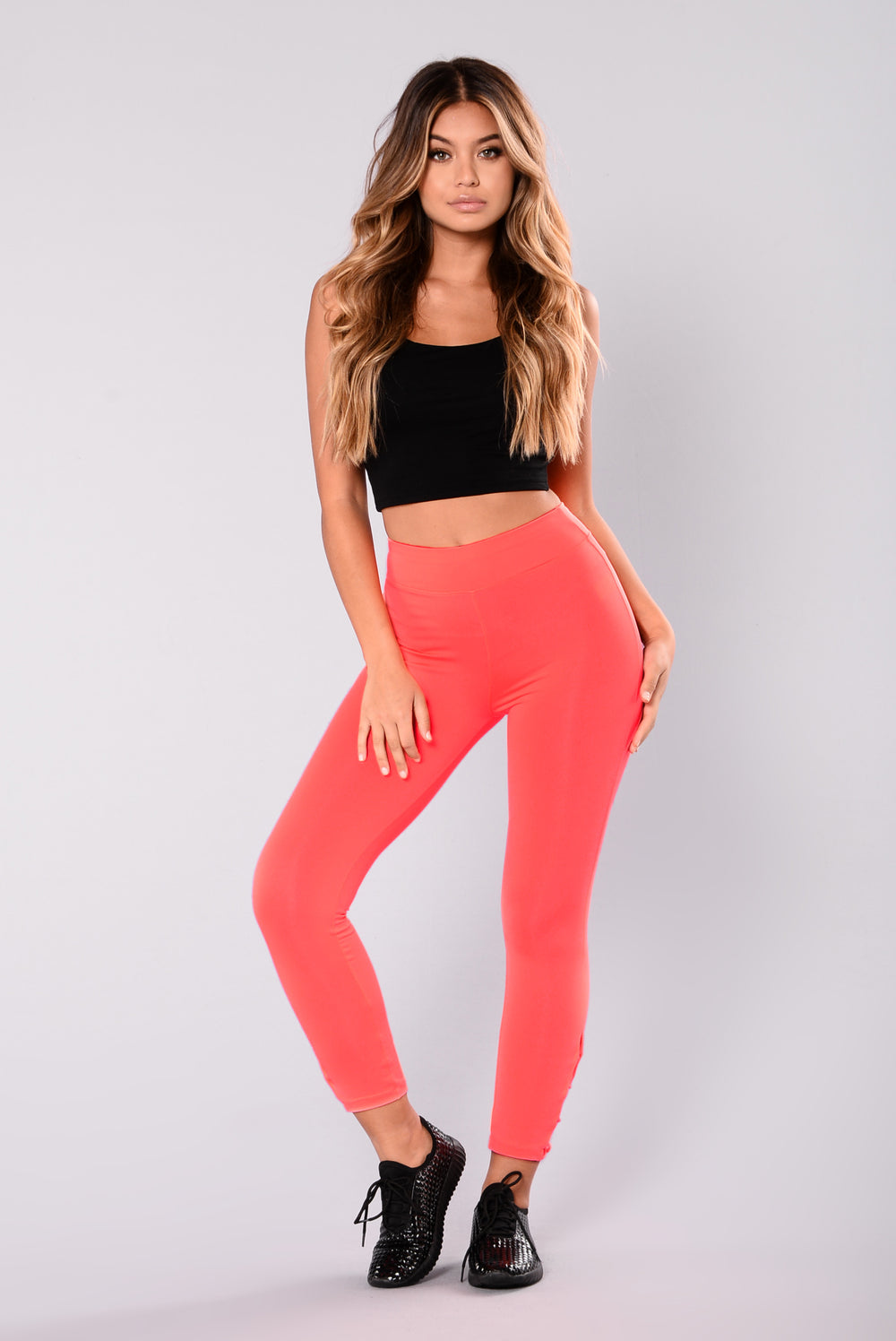 Yvonne Active Leggings - Neon Coral
