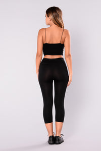 Angela Seamless Active Leggings - Black