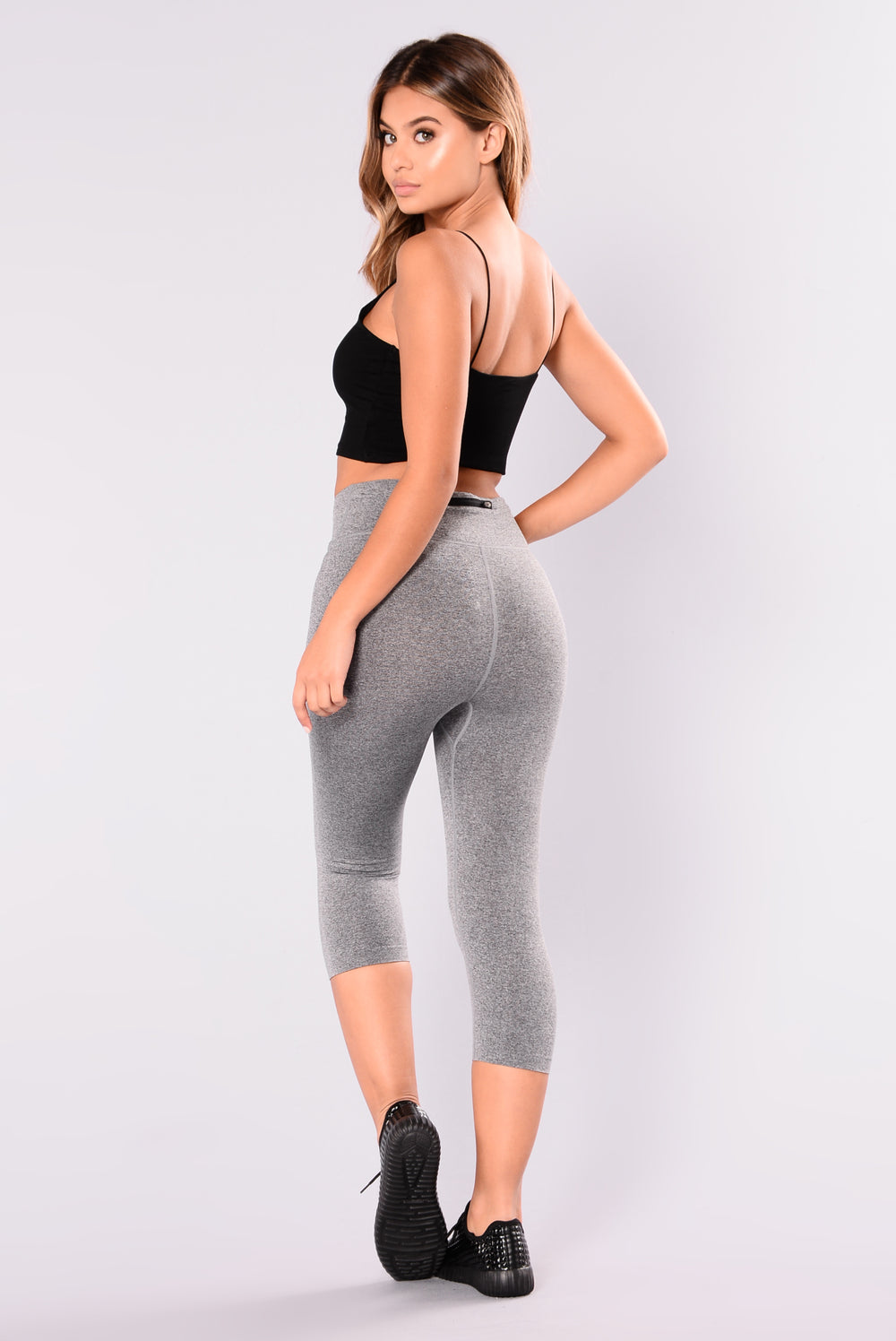 Angela Seamless Active Leggings - Charcoal