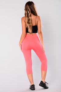Angela Seamless Active Leggings - Neon Coral