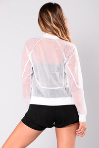 Areen Active Bomber Jacket - White