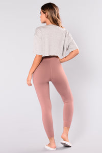 Yoga Pose Active Jogger - Mauve
