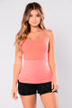 Posh Active Sports Bra - Neon Coral
