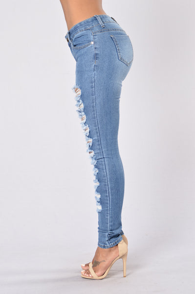 Mysterious Nights Jeans - Medium Blue