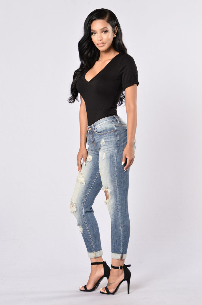 Walk That Walk Jeans - Medium Wash