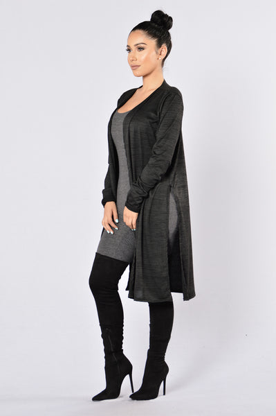 Slits Out Duster - Black