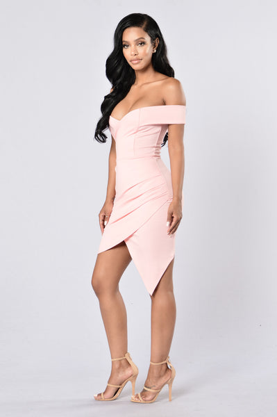 Secret Moments Dress - Peach