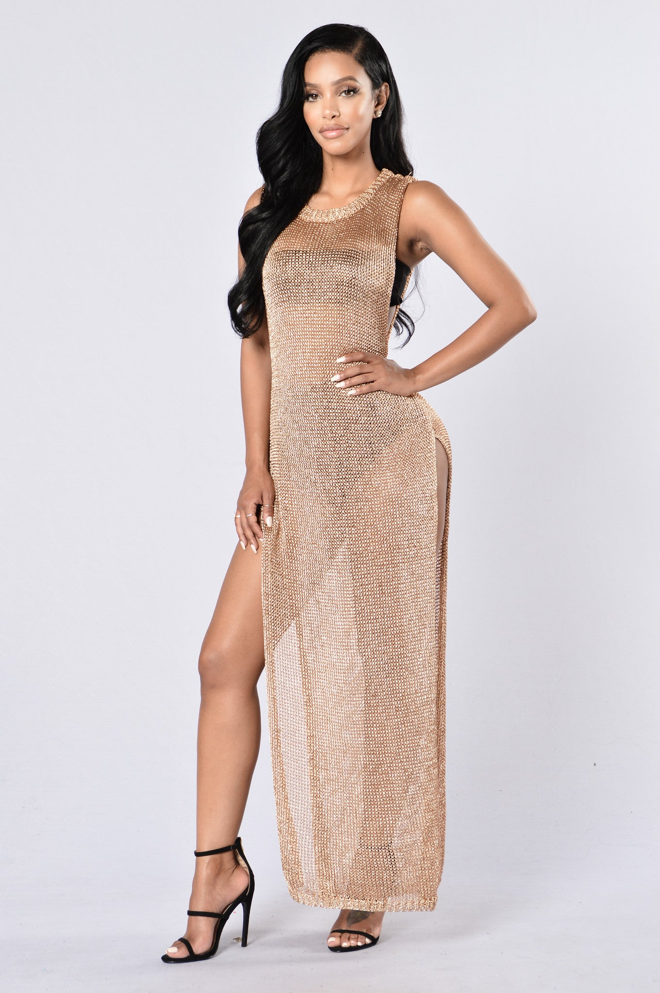 b2634daa6afd2 Dubai Cover Up Dress - Rose Gold