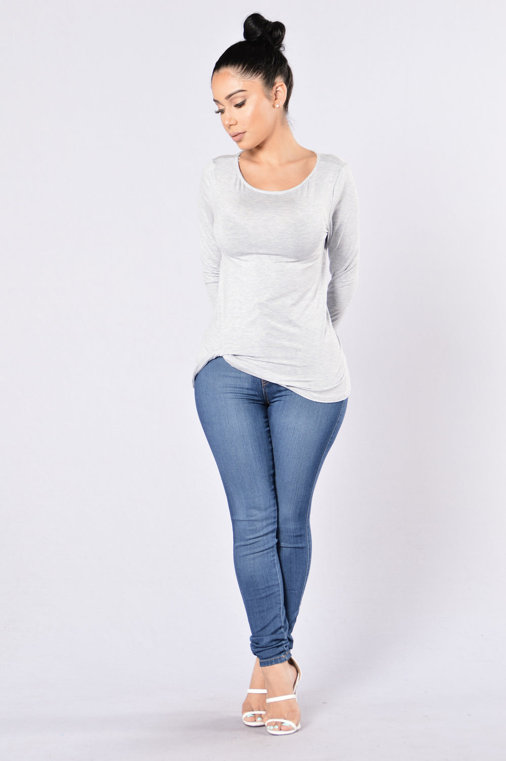 Extra On The Side Top - Heather Grey