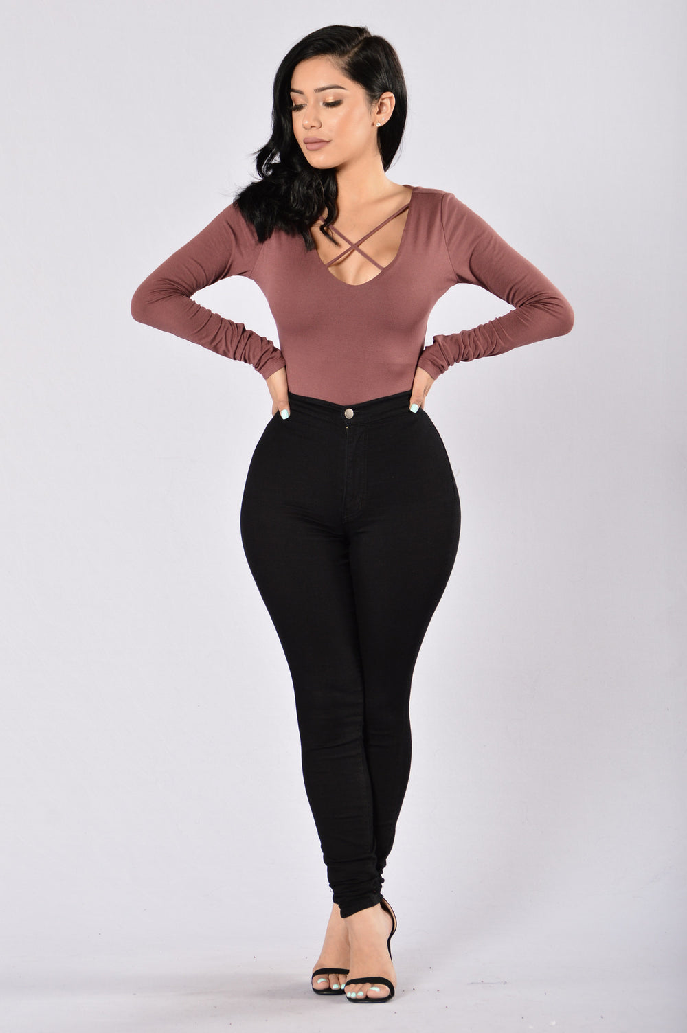 Good Shot Bodysuit - Red Bean