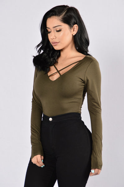 Good Shot Bodysuit - Olive