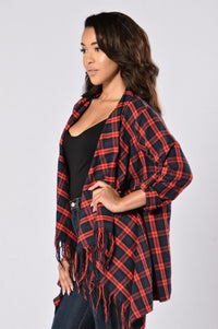 Always In Love Jacket - Red/Black