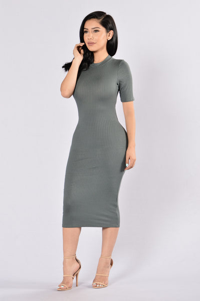 Reminiscence Dress - Olive