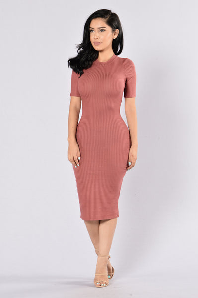 Reminiscence Dress - Marsala