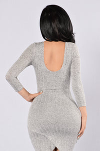 Not That Into You Dress - Heather Grey