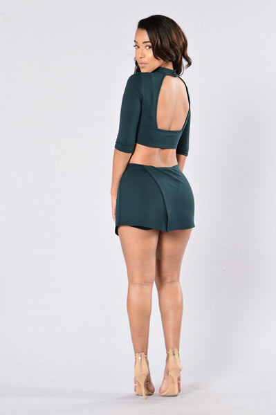 Mod Skort - Hunter Green