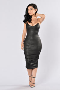 To The Point Dress - Black Angle 1